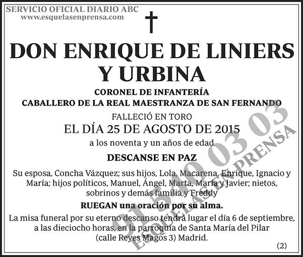 Enrique de Liniers y Urbina